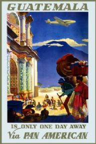 Vintage Travel Poster Guatemala USA